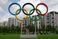 Olympic Rings in Athlete's Village